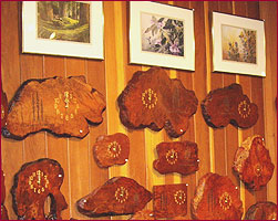 photo of burl clocks