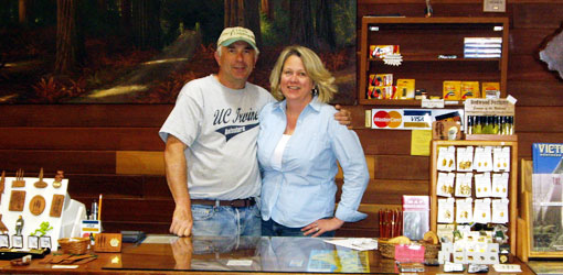 photo of couple behind counter of gift shop