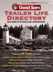magazine cover of good sam trailer life directory